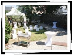 Location de mobilier événementiel à Rennes, à Vitré, Fougères ou La Guerche de Bretagne