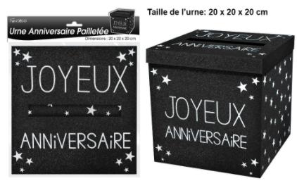 Festivitré 2020 12 23 10 53 33 Urne Joyeux Anniversaire Paillette – Surprisez Vous
