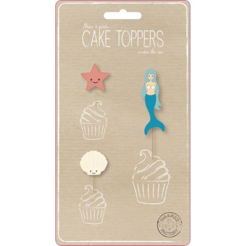 Festivitré Set De 3 Cake Toppers Under The Sea