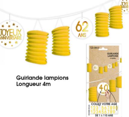 Festivitré LAMPION JAUNE