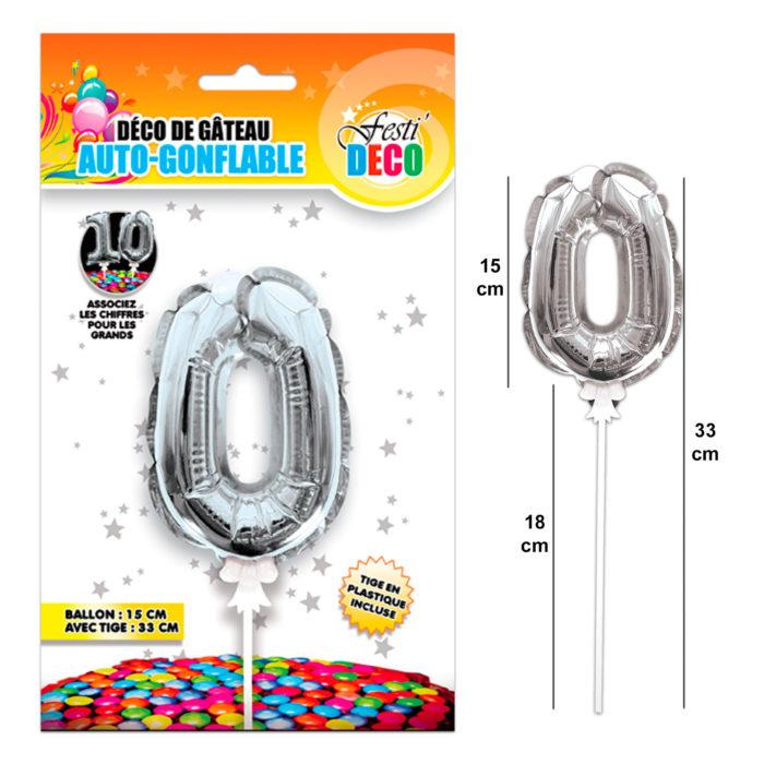 Festivitré Deco 3 Gateaux Bougie 0 Ballon