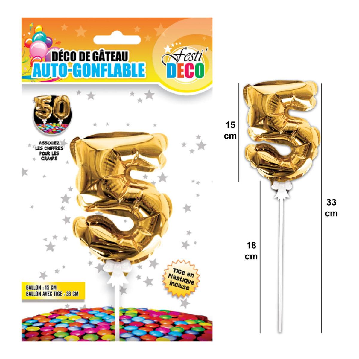 Festivitré Deco 3 Gateaux Bougie 5 Ballon 1