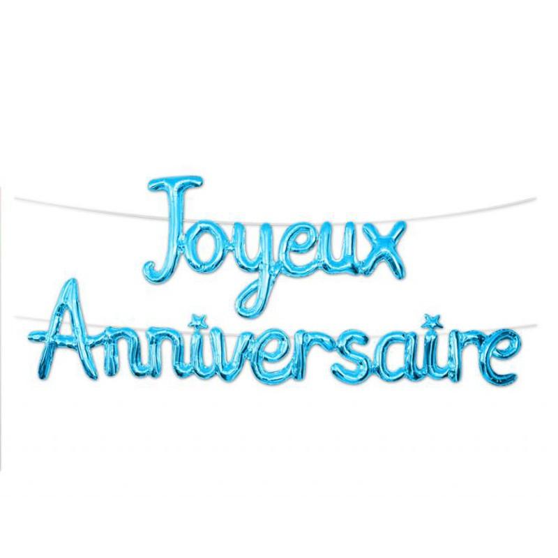 Festivitré Guirlande De Ballons Metallique Joyeux Anniversaire 4 50 M