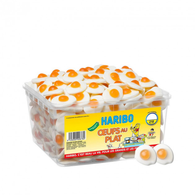 Festivitré Oeufs Au Plat X 210 Boite Bonbon Haribo