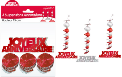 Festivitré Suspension Ja Rouge