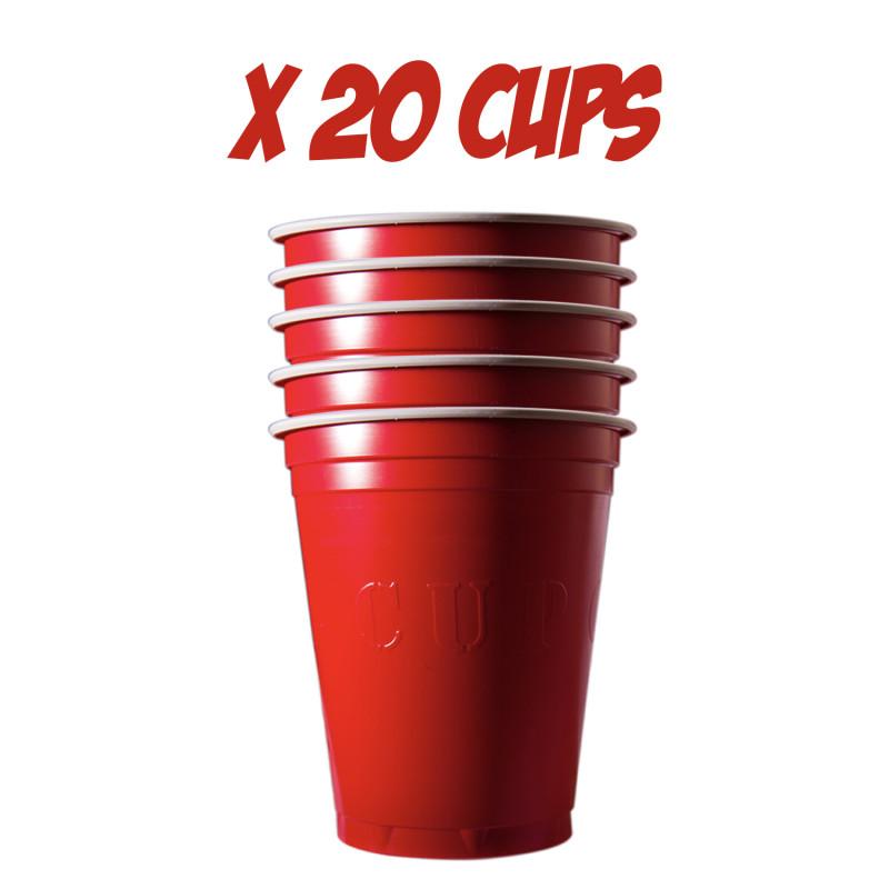 Festivitré 20 Gobelets Rouges 53cl 1