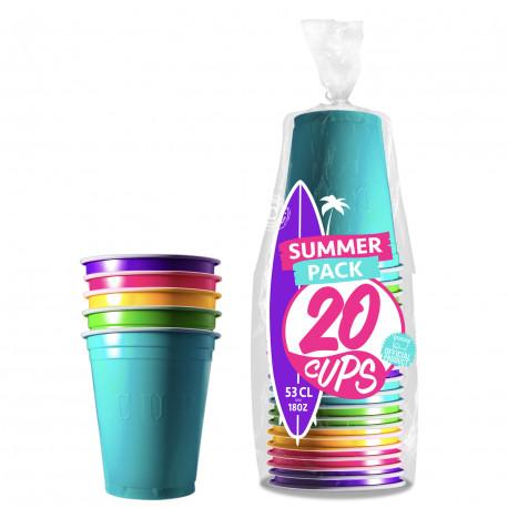 Festivitré 20 Gobelets Summer 53cl