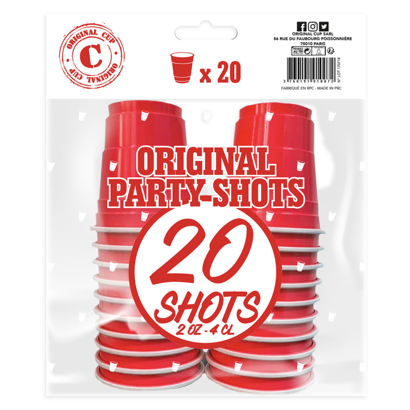 Festivitré 20 Shooters Rouges 4cl 6