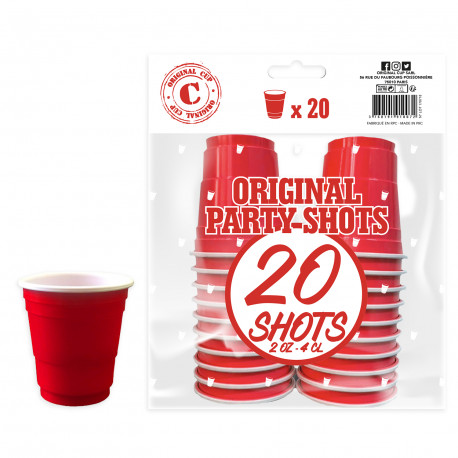 Festivitré 20 Shooters Rouges 4cl 8