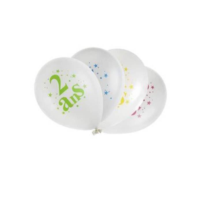 Festivitré 8 Ballons D Anniversaire 2 Ans