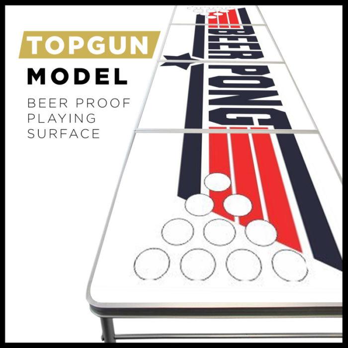 Festivitré Table De Beer Pong Officielle Top Gun 2