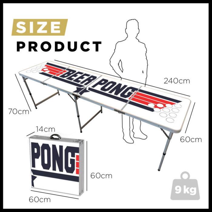 Festivitré Table De Beer Pong Officielle Top Gun 6