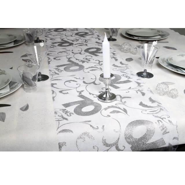 Festivitré Decoration De Table Elegante Pour Fete 70 Ans 28cm