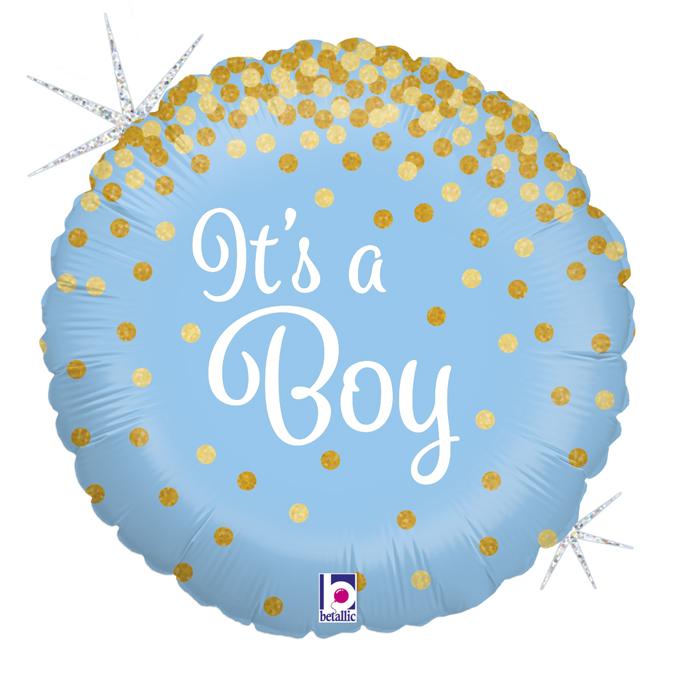 Festivitré Https Fournisseur Ballon Decoration.com Wp Content Uploads 2018 10 36587GH Glittering Its A Boy