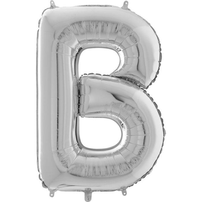 Festivitré Https Fournisseur Ballon Decoration.com Wp Content Uploads 2018 11 Lettre B Argent 26 Pouces