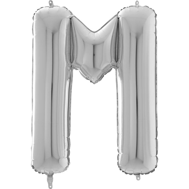 Festivitré Https Fournisseur Ballon Decoration.com Wp Content Uploads 2018 11 Lettre M Argent 26 Pouces