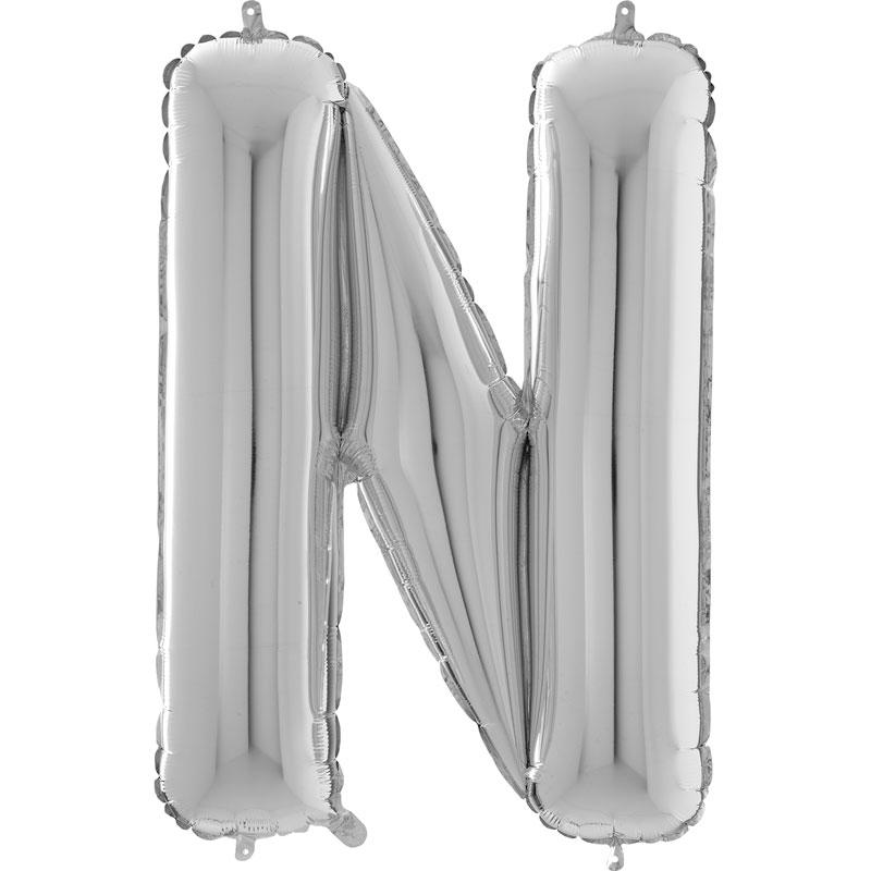 Festivitré Https Fournisseur Ballon Decoration.com Wp Content Uploads 2018 11 Lettre N Argent 26 Pouces