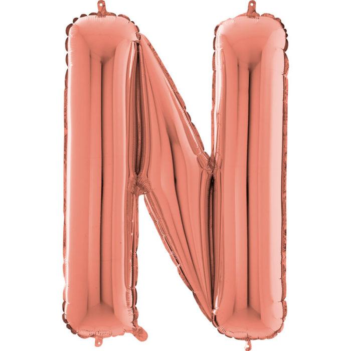 Festivitré Https Fournisseur Ballon Decoration.com Wp Content Uploads 2018 11 Lettre N Rose Gold 26 Pouces