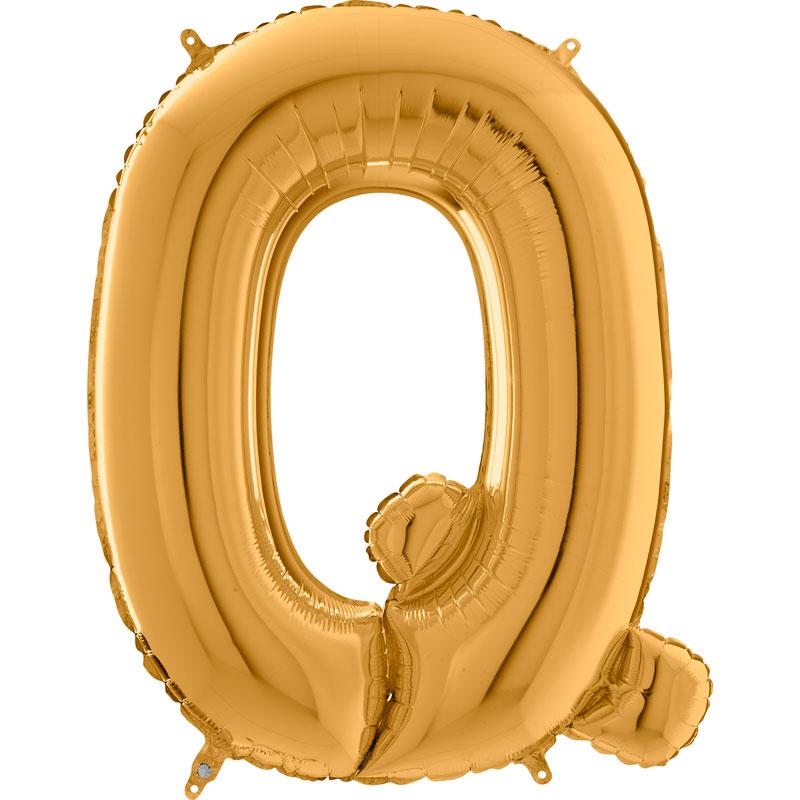 Festivitré Https Fournisseur Ballon Decoration.com Wp Content Uploads 2018 11 Lettre Q Or 26 Pouces