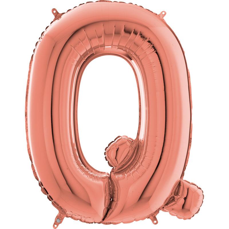 Festivitré Https Fournisseur Ballon Decoration.com Wp Content Uploads 2018 11 Lettre Q Rose Gold 26 Pouces