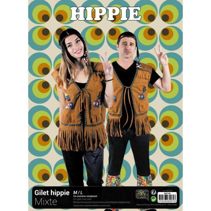 Festivitré Gilet Hippie Mixte